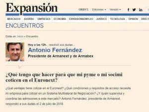 Encuentro digital de Antonio Fernández en Expansión